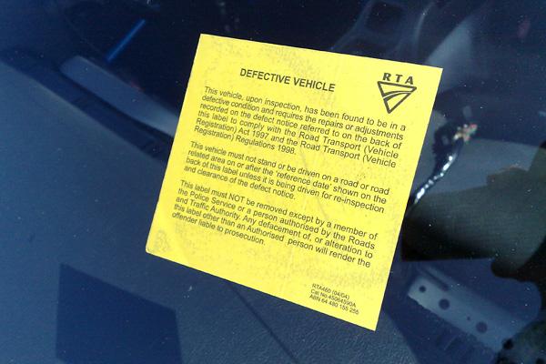 Defect Notice