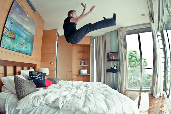 Jumping on Beds HP House Sydney