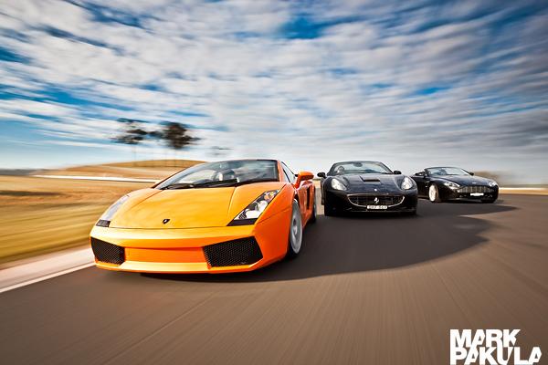 Lamborghini Gallardo Ferrari California Aston Martin Vantage